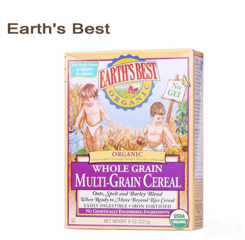 美国Earths Best世界最好3段高铁婴儿混合谷物米粉 宝宝辅食