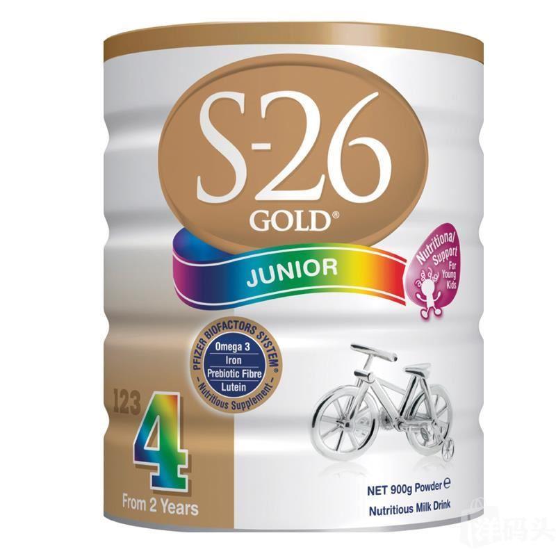 惠氏Wyeth S26金装婴幼儿奶粉4段6罐,澳洲直邮代购