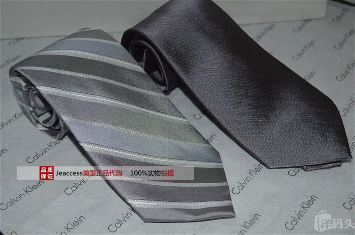 Calvin Klein CK 美国专柜正品 男士真丝正装商务领带国内现货