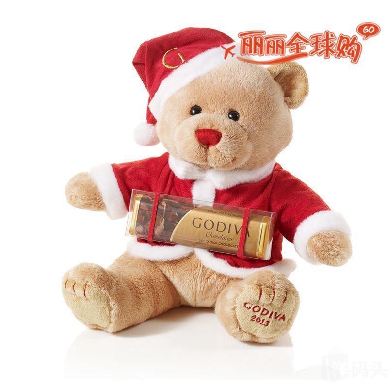 国内现货godiva歌帝梵高迪瓦 毛绒厨师熊牛奶巧克力条套装礼品可爱