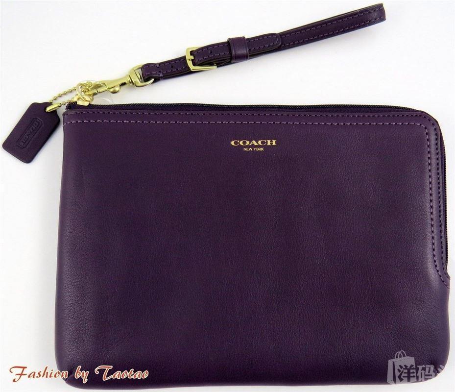 美国直邮 COACH  Legacy F63797 真皮手腕包
