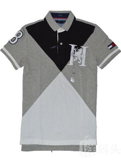 Tommy Hilfiger汤米美国专柜正品男菱型大格子polo衫短袖国内现货