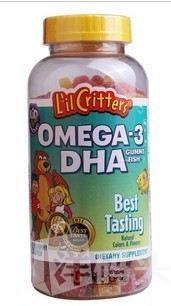 美国直邮 L'il Critters小熊糖Omega3 DHA鱼油180粒