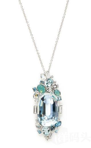 国内现货Swarovski Rupture Pendant Necklace 矿石项链 1119367