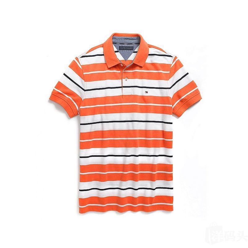 国内现货Tommy Hilfiger 汤米男士条纹短袖POLO衫(多色)