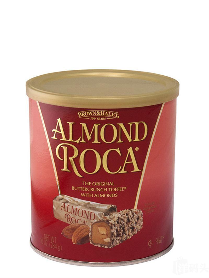美国Almond Roca乐家杏仁糖四口味 罐装284G两罐