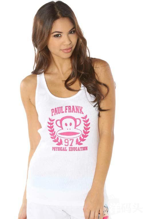美国正品直邮 Paul Frank 大嘴猴100%纯棉女士背心