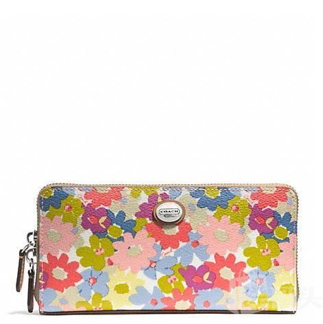 寇驰 PEYTON FLORAL ACCORDION ZIP WALLET_F51129