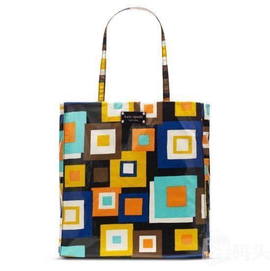 美国直递 Kate Spade daycation bon shopper 彩格子购物袋