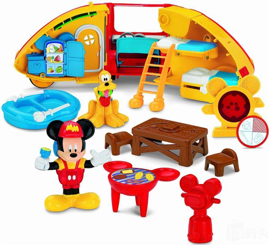 Fisher 费雪 Mickey Mouse迪士尼米奇妙妙屋野营双层露营车房车