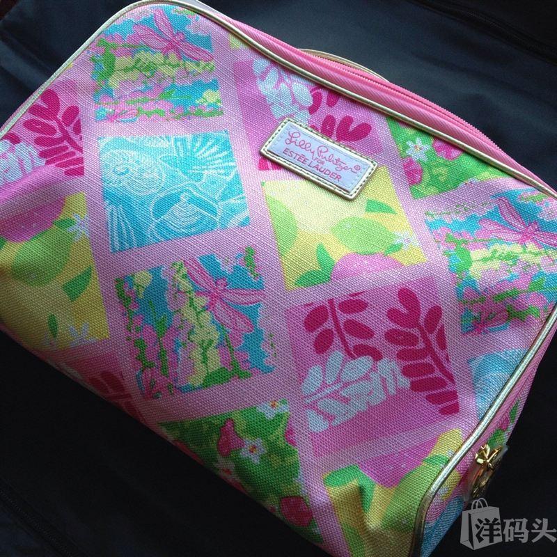 雅诗兰黛 13年礼包拆卖 粉色花卉图案 化妆包 手包  收纳包 超大