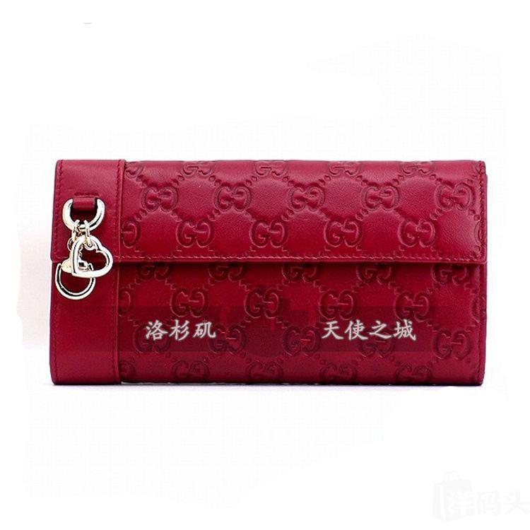 Gucci古奇牛皮双G长款女式钱包270027 古驰特价