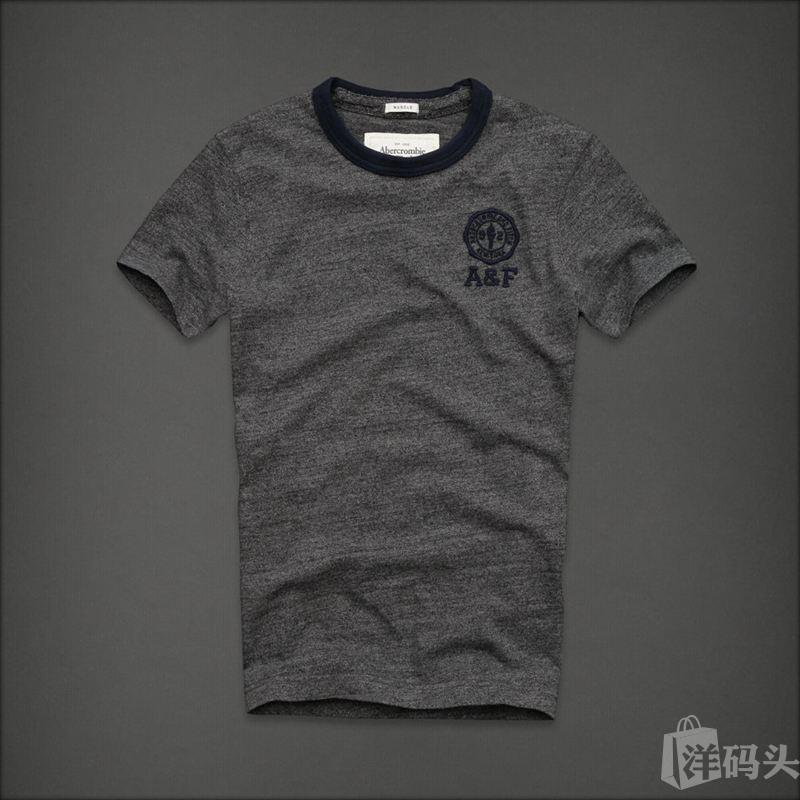 af正品代购美国abercrombie男款夏季徽章短袖T恤国内现货