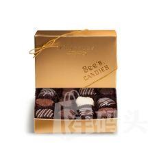 现货 see's candies 松露巧克力精品礼盒(小金盒)227克