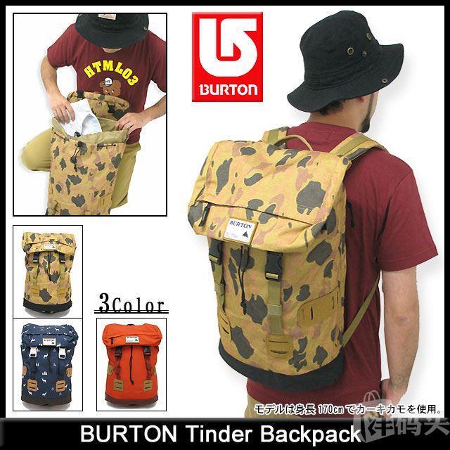Burton伯顿贝克汉姆同款棉旅行双肩包书包学生包 多色