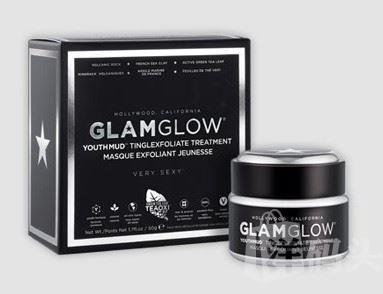 GlamGlow发光面膜黑 火山泥面膜 紧致清洁 50克