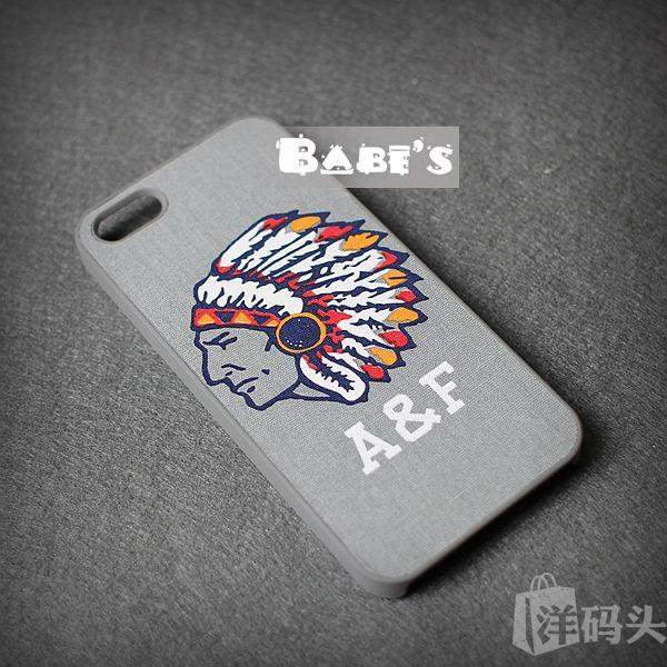 Abercrombie Fitch AF印第安人头手机保护壳 Iphone5/5S 正品现货