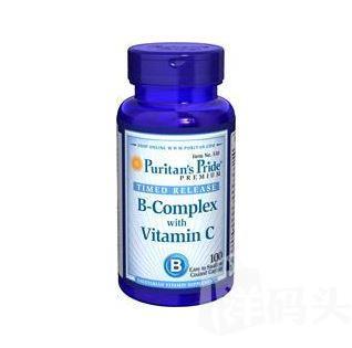 【美国直邮】Puritan's Pride复合维生素B族+维生素C 抗疲劳增免疫