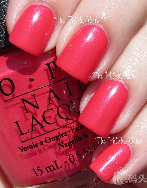OPI 指甲油 米妮时装限量系列 Minnie M56 桃红粉色 15ml