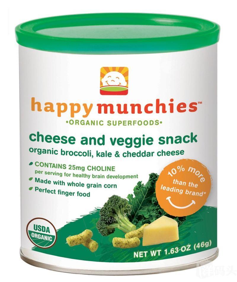 限时抢购:买一送一原价29.8 美国禧贝Happy baby有机花椰菜奶酪脆条 泡芙条 进口婴儿零食
