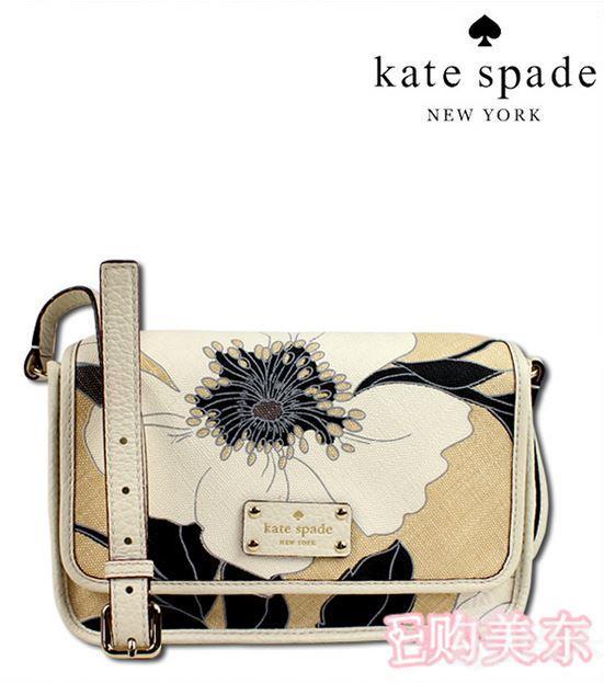 kate spade WKRU1817花式帆布经典邮差包