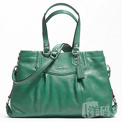 Coach ASHLEY LEATHER CARRYALL 单肩斜跨手提包 F19243