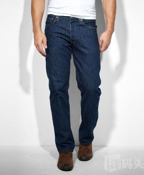 美国直邮 Levi's李维斯经典501-0115 原色已脱浆 直筒牛仔裤