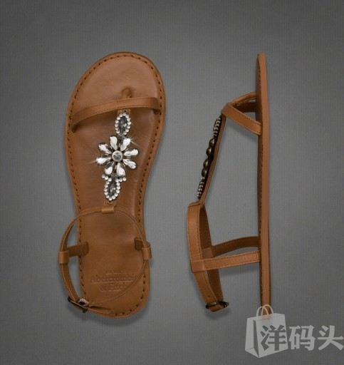 美国现货 AF女式宝石真皮凉鞋SHINE LEATHER FLIP FLOP