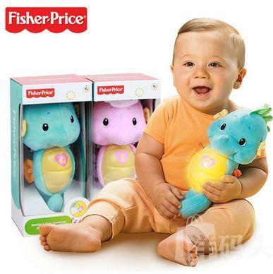 免运费 美国正品Fisher Price 费雪音乐声光 婴儿安抚小海马玩具