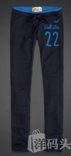 美国现货包邮 AF/Hollister海鸥女士skinny抓绒卫裤 深蓝色 S号