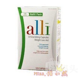 爱丽Alli Weight-Loss Aid减肥营养片 唯一FDA许可非处方减肥
