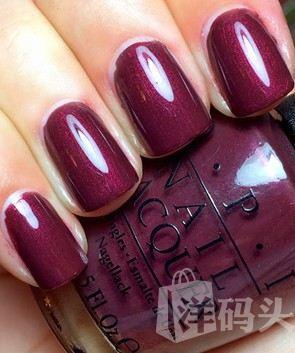OPI 指甲油 2013Mariah Carey圣诞假日 E14 珠光巧克力酱紫 15ML