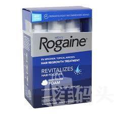 落健Rogaine/胡须生长液眉毛鬓角,美国落健生发泡沫防脱发生发液