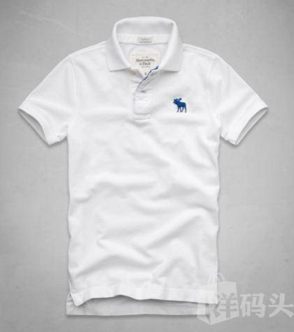 AF A&F Abercrombie&Fitch  BAKER MOUNTAIN POLO  纯色
