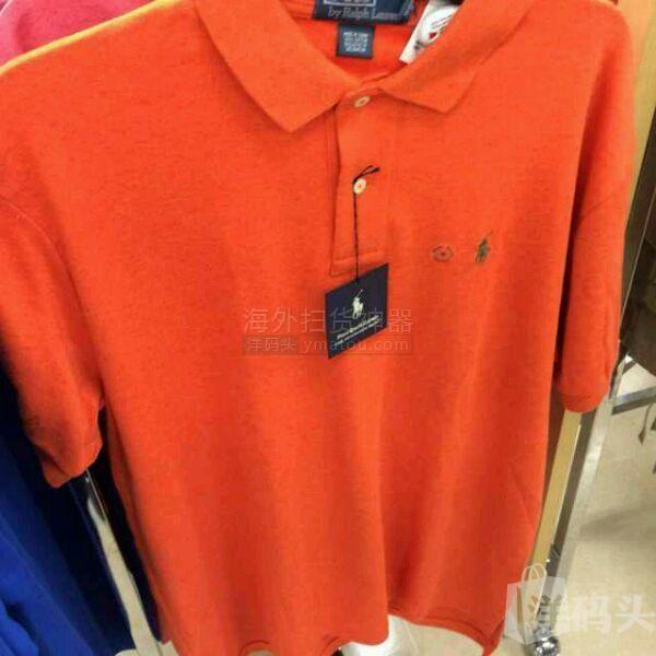 RL男短袖polo,橘色,深蓝色,到手价386