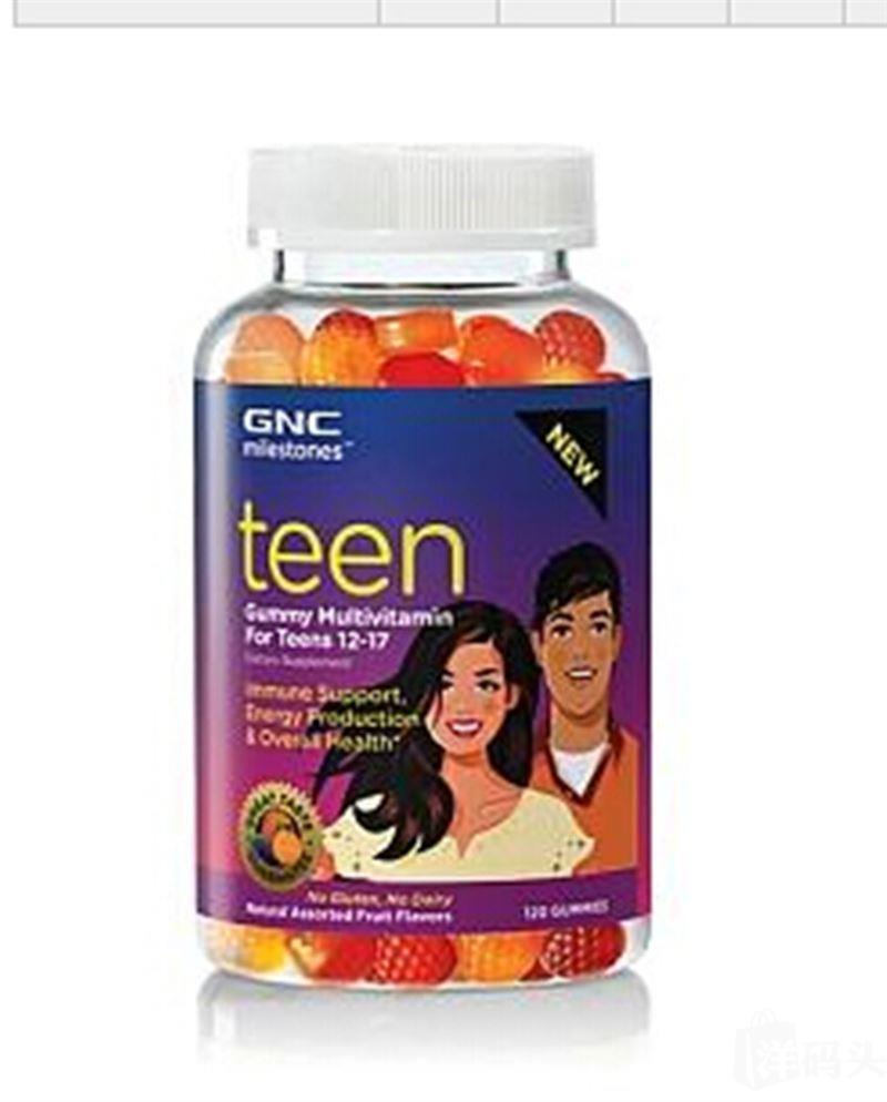 美国GNC Teen Gummy青少年多种维他命 复合维生素软糖 120粒