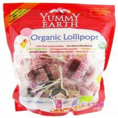 Yummy Earth天然有机棒棒糖40支大袋装