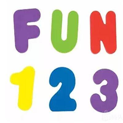 Munchkin麦肯齐麦肯奇 儿童洗澡玩具26个字母 10个数字
