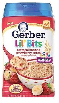 【WHFBUY】 美国直邮 13年美国GERBER嘉宝3阶段香蕉草莓燕麦米粉米糊227G含铁锌维生素 任选两盒米粉包邮
