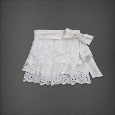 美国正品国内现货 AF女士白色Blythe棉质短裙清纯 S码
