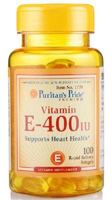 (美国直邮)Puritan's Pride天然维生素E400IU 100粒