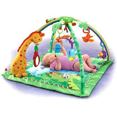 费雪Fisher Price热带雨林婴儿健身架音乐游戏毯垫爬行垫0岁以上