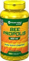 美国直邮Vitamin World100%天然蜂胶胶囊500毫克 100粒-600粒