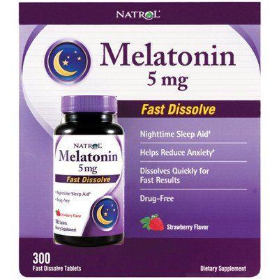 Natrol Melatonin 褪黑素(脑白金)5mg*300粒