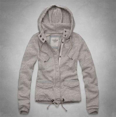 Abercrombie&Fitch AF女式拉链纽扣修身卫衣Jonna Fleece Jacket