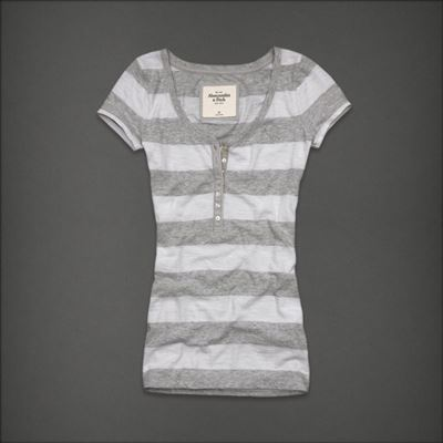 Abercromibe & Fitch Elise全棉条纹Tshirt