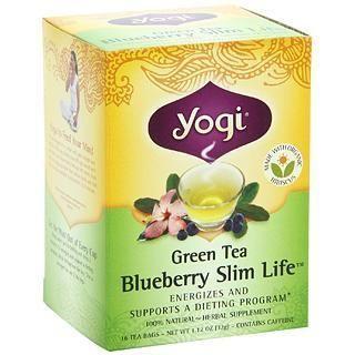 4盒包邮!Yogi Tea瑜伽茶 有机蓝莓瘦身绿茶/燃脂纤体茶/草本茶!
