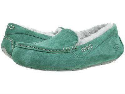 美国ugg专柜代购Ansley女士羊毛一体船鞋 豆豆鞋 多色可选