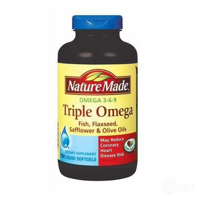 [特价]直邮Nature Made Triple Omega 3-6-9 复合鱼油液体胶囊180