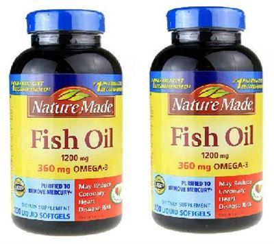 (美国直邮) Nature Made Fish Oil深海鱼油1200mg 200粒2瓶